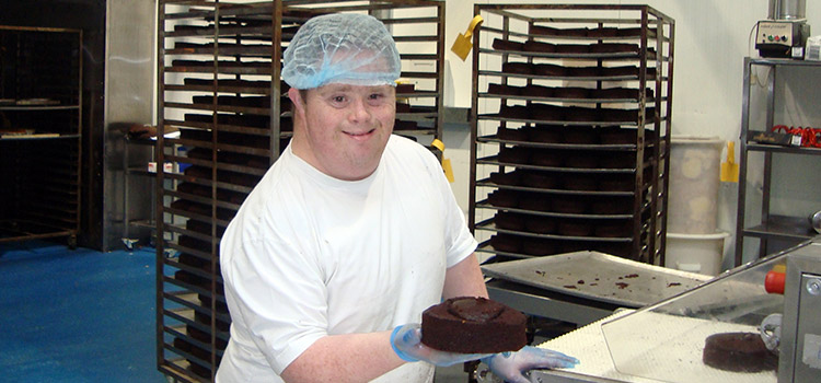 Derek working in a Bakery